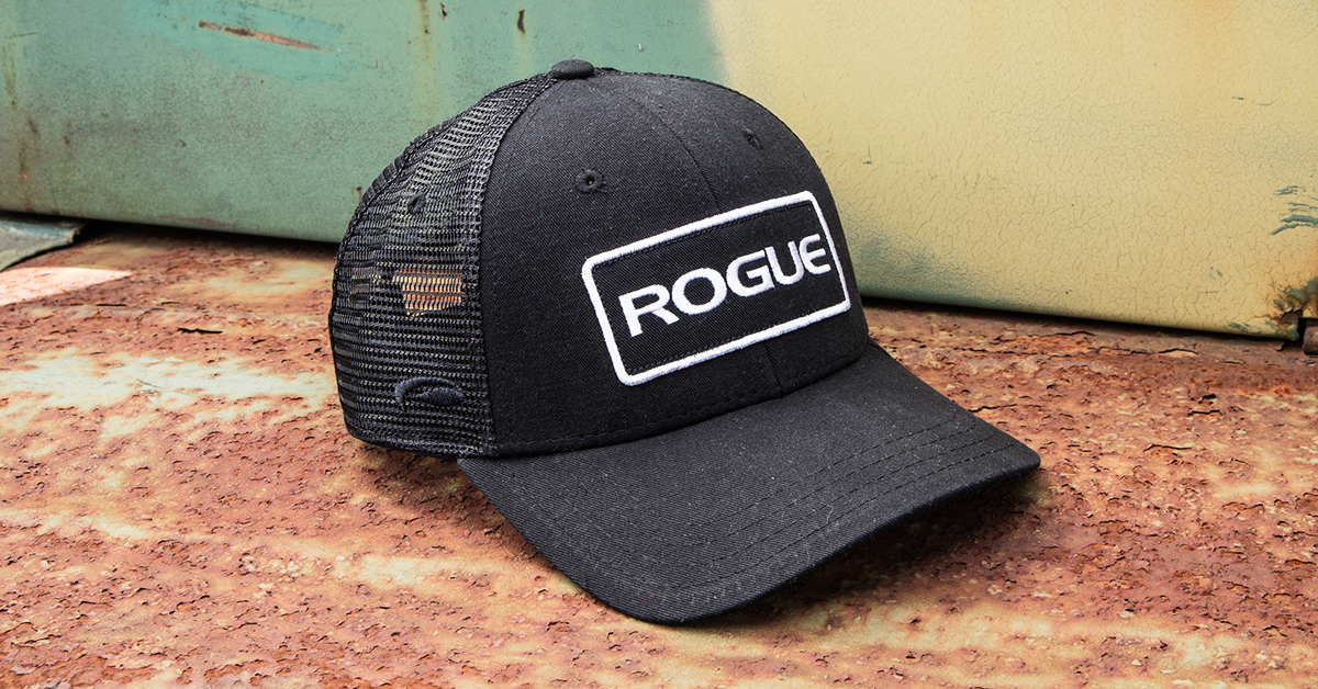 2112b98db7579 Rogue Patch Trucker Hat - Logo Cap - Black