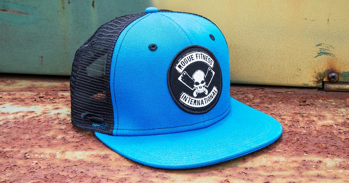 d70385f8150 Rogue International Flat Bill Hat - Trucker Hat   Baseball Cap - Blue