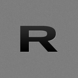Rogue 25MM Training Bar over top view of the bar laying diagonal with the end cap logo in the bottom right