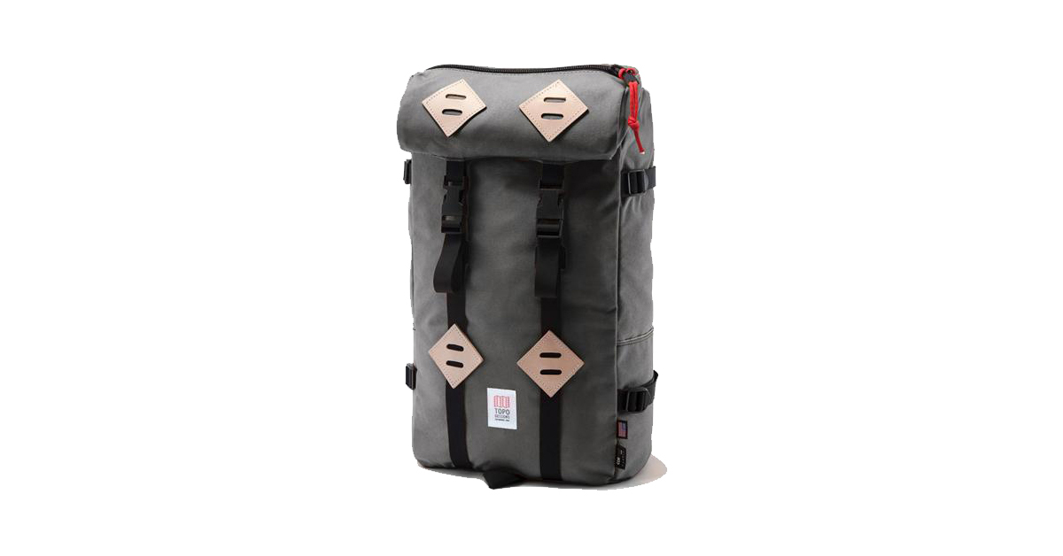 Topo Designs 22L Klettersack - Gray and Black  a6c8678908f39