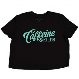 Caffeine & Kilos Paisley Cardinal Crop Top