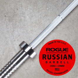Rogue 28mm Men's Russian Bar w/ Collars