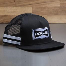 Rogue Striped Trucker Hat - Flat Bill