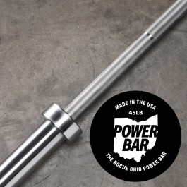 Rogue 45LB Ohio Power Bar - Stainless/Stainless